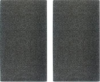 Zeller Herdabdeckplatte 2er Set Granit schwarz