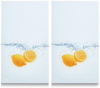 Zeller Herdabdeckplatte 2er Set Hummer Lemon Splash