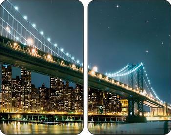 Wenko Abdeckplatten 2er Set Brooklyn Bridge
