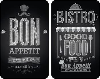 Wenko Abdeckplatten 2er Set Bon Appetit