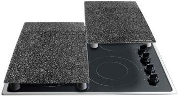 Stoneline Herdabdeckplatten 2er.Set 52 x 30 cm schwarz (10862)