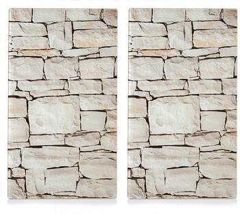 Zeller Herdabdeckplatte 2er Set Stone