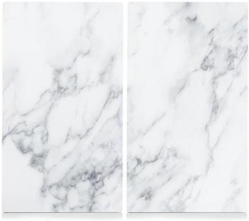 Zeller Herdabdeckplatte 2er Set Marmor weiß