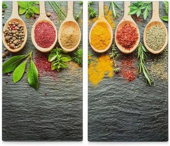 Zeller Herdabdeckplatte 2er Set Spices