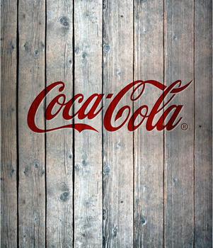 Wenko Glasrückwand 60 x 70 cm Coca Cola Wood