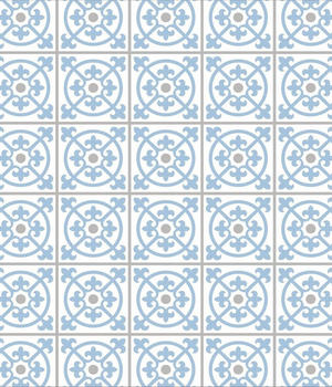 Wenko Glasrückwand 60 x 70 cm Fliesen blau