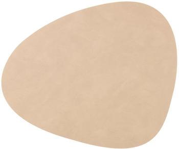 LINDDNA Platz-Set Nupo CURVE 37 x 44 cm Leder sand