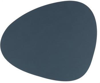 LINDDNA Platz-Set Nupo CURVE 37 x 44 cm Leder Blau