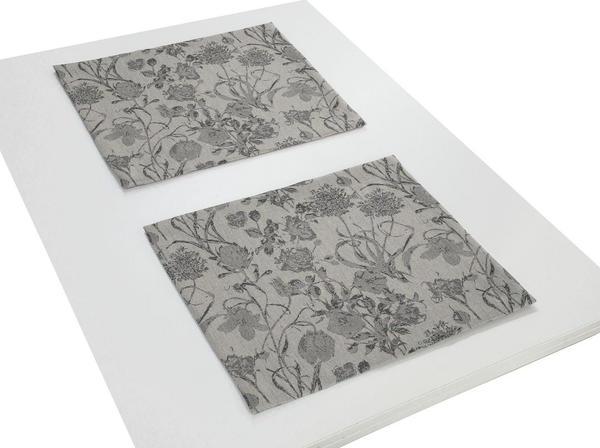 Adam Platzsets Flower Cuvée 30 x 40 cm schwarz