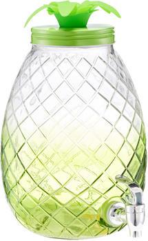 Zeller Ananas Getränkespender mit Auslaufhahn 4,5 l