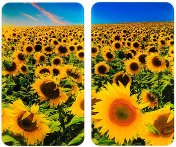 wenko-abdeckplatten-2er-set-sonnenblumenfeld