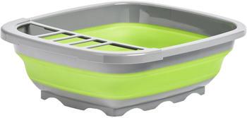 Zeller Geschirrabtropfständer faltbar 38,4 x 32,4 x 12 cm anthrazit/grün