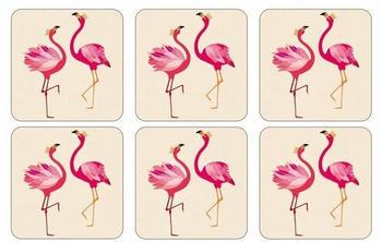 Pimpernel Flamingo Glasuntersetzer 6er Pack Rosa