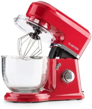 Klarstein Allegra Rossa Küchenmaschine 800 W 3 l Glasschüssel rot