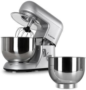 Klarstein Bella Argentea Komplettset Küchenmaschine + Zusatzschüssel silber