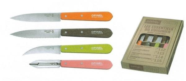 Opinel Essentials Colours 50 Messer-Set 4 tlg.