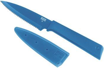 Kuhn Rikon Colori+ Rüstmesser, Gezackt, ; Farbe: Blau ; Messerlänge: 192 mm ; 26523