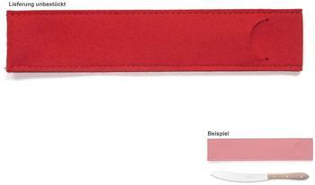 Herder Windmühlenmesser Windmühlenmesser Messer & Klingenschutz Filz-Etui rot 29cm