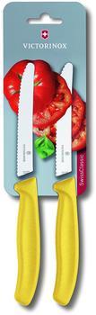 Victorinox SwissClassic Tomaten- und Wurstmesser gelb 2-tlg.