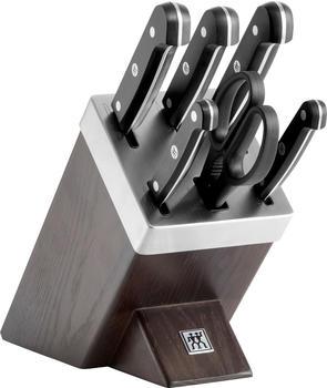 ZWILLING Gourmet Messerblock 7-tlg SharpBlock dunkelbraun