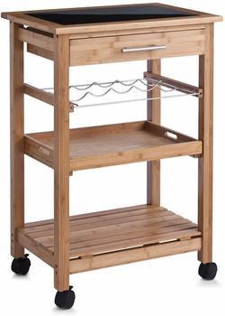 Zeller Küchenrollwagen Bamboo/Glas-Top (13778)