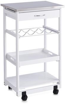 Zeller Küchenrollwagen mit Edelstahltop weiß (13772)