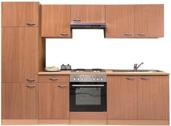 Respekta Küchenzeile Buche 270 cm (KB270BBE)