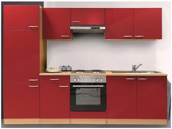 Respekta Küchenzeile rot 270 cm (KB270BRE)