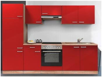 Respekta Küchenzeile rot 270 cm (KB270BREC)
