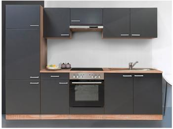 Respekta Küchenzeile Buche-grau 270 cm (KB270BGEC)