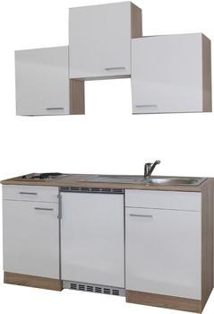 Respekta Küchenzeile 150cm Eiche Sägerau (KB150ESW)