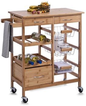 Zeller Küchenrollwagen mit Bambootop (13775)