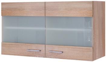 Flex-Well Glas-Hängeschrank Centa 100cm Sonoma Eiche