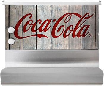 Wenko Magnetischer Rollenhalter mit Ablage Coca-Cola natur