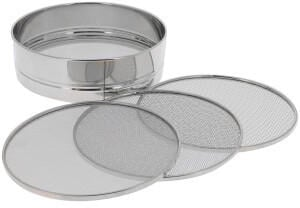 De Buyer Stainless steel sieve with 4 interchangeable meshes