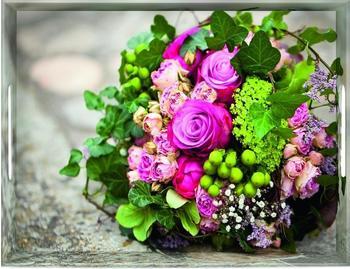 Emsa Classic Tablett Flower Bouquet 40 x 31 cm
