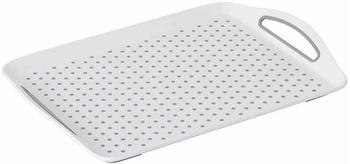 Kesper Serviertablett rechteckig 45,5 x 32 cm weiß
