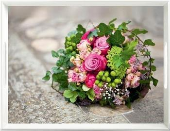 Emsa Classic Tablett Flower Bouquet 50 x 37 cm