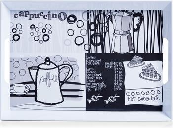 Zeller Melamintablett Coffee grau 50 x 35 cm