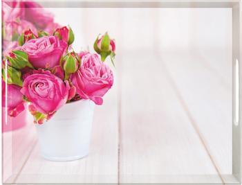 Emsa Classic Tablett 50 x 37 cm pink Roses