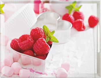 Emsa Classic Tablett 50 x 37 cm Raspberries