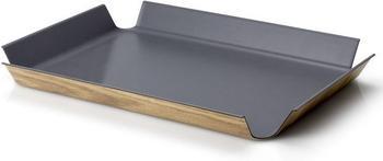 Continenta Tablett rutschfest grau 45 x 34 cm