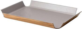 Continenta Tablett rutschfest (41 x 29,5 cm) metallic-taupe