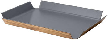 Continenta Tablett rutschfest (41 x 29,5 cm) grau