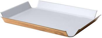 Continenta Tablett rutschfest (41 x 29,5 cm) silber