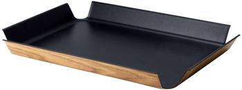 Continenta Tablett rutschfest (41 x 29,5 cm) schwarz