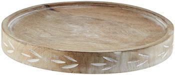 Höffner Holztablett mit Glasglocke ¦ holzfarben ¦ Glas , HolzØ: 19 Glas , Holz Durchmesser: 19 cm
