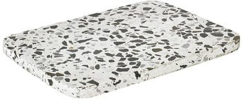 Blomus Omeo Dekoablage/ Tablett 20x15cm schwarz/weiß/LxBxH 20x15x1cm