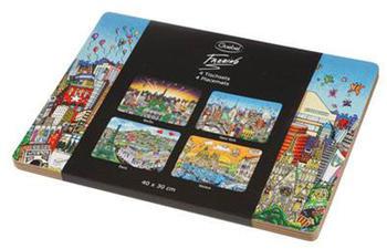 Goebel-Kunststoffe Platzset 4-teilig Pop Art Charles Fazzino