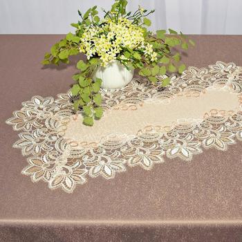 Delindo Lifestyle Platzset ROMANTIC LACE (1-tlg) 60x60 cm quadratisch - Polyester natur